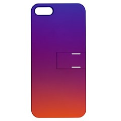 Purple Orange Blue Apple Iphone 5 Hardshell Case With Stand