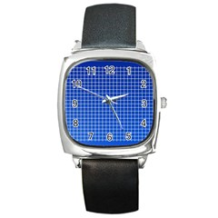 Background Diamonds Computer Paper Square Metal Watch