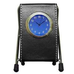 Background Diamonds Computer Paper Pen Holder Desk Clocks
