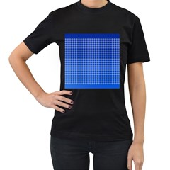Background Diamonds Computer Paper Women s T Shirt (black) (two Sided)