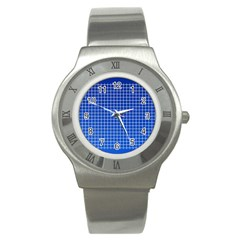 Background Diamonds Computer Paper Stainless Steel Watch