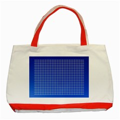 Background Diamonds Computer Paper Classic Tote Bag (red)