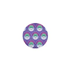 Background Floral Pattern Purple 1  Mini Buttons