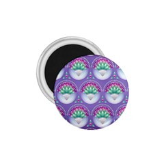 Background Floral Pattern Purple 1 75  Magnets