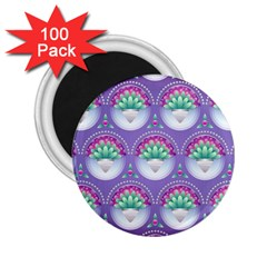 Background Floral Pattern Purple 2 25  Magnets (100 Pack)