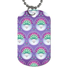 Background Floral Pattern Purple Dog Tag (one Side)