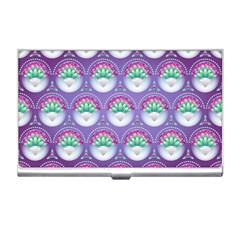 Background Floral Pattern Purple Business Card Holders
