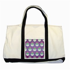 Background Floral Pattern Purple Two Tone Tote Bag