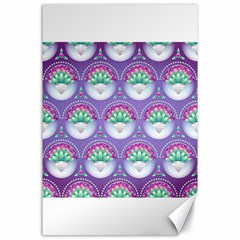 Background Floral Pattern Purple Canvas 24  X 36