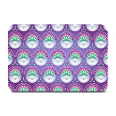 Background Floral Pattern Purple Plate Mats