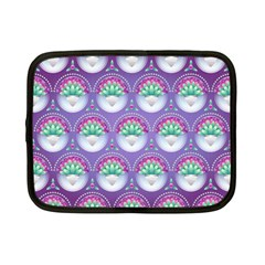 Background Floral Pattern Purple Netbook Case (small)