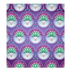 Background Floral Pattern Purple Shower Curtain 66  x 72  (Large)