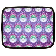 Background Floral Pattern Purple Netbook Case (xxl)