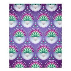 Background Floral Pattern Purple Shower Curtain 60  X 72  (medium)