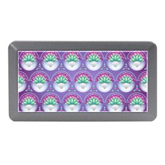 Background Floral Pattern Purple Memory Card Reader (mini)