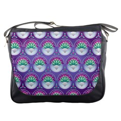 Background Floral Pattern Purple Messenger Bags
