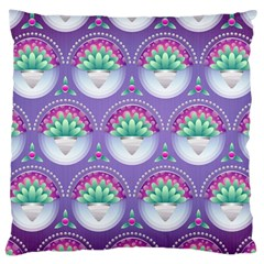Background Floral Pattern Purple Large Cushion Case (two Sides)