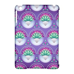 Background Floral Pattern Purple Apple Ipad Mini Hardshell Case (compatible With Smart Cover)