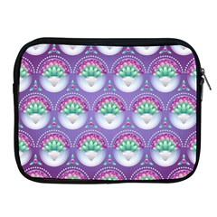 Background Floral Pattern Purple Apple Ipad 2/3/4 Zipper Cases