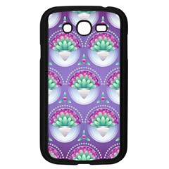Background Floral Pattern Purple Samsung Galaxy Grand Duos I9082 Case (black)