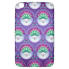 Background Floral Pattern Purple Samsung Galaxy Tab 3 (8 ) T3100 Hardshell Case