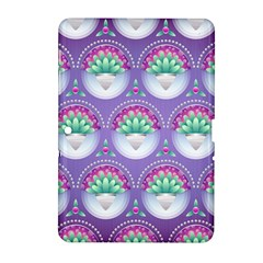 Background Floral Pattern Purple Samsung Galaxy Tab 2 (10 1 ) P5100 Hardshell Case