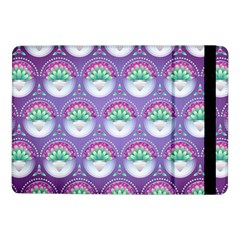 Background Floral Pattern Purple Samsung Galaxy Tab Pro 10 1  Flip Case