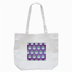 Background Floral Pattern Purple Tote Bag (white)
