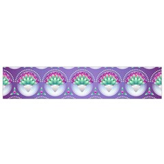 Background Floral Pattern Purple Flano Scarf (small)
