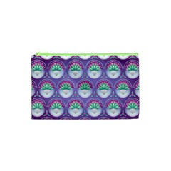 Background Floral Pattern Purple Cosmetic Bag (xs)