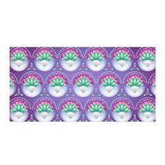 Background Floral Pattern Purple Satin Wrap