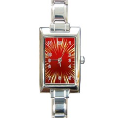 Color Gold Yellow Background Rectangle Italian Charm Watch