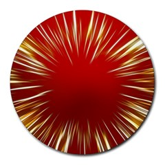 Color Gold Yellow Background Round Mousepads