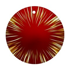 Color Gold Yellow Background Ornament (round)