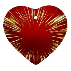 Color Gold Yellow Background Ornament (Heart)