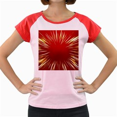Color Gold Yellow Background Women s Cap Sleeve T Shirt