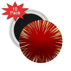 Color Gold Yellow Background 2 25  Magnets (10 Pack)