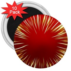 Color Gold Yellow Background 3  Magnets (10 pack)
