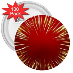 Color Gold Yellow Background 3  Buttons (100 Pack)