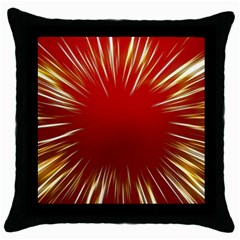 Color Gold Yellow Background Throw Pillow Case (black)