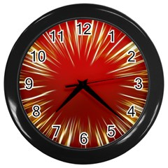 Color Gold Yellow Background Wall Clocks (black)