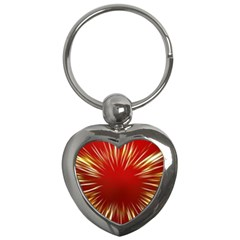 Color Gold Yellow Background Key Chains (heart)