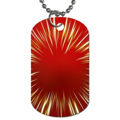 Color Gold Yellow Background Dog Tag (one Side)