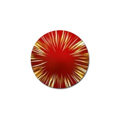 Color Gold Yellow Background Golf Ball Marker (10 Pack)