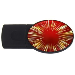 Color Gold Yellow Background USB Flash Drive Oval (1 GB)