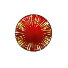 Color Gold Yellow Background Hat Clip Ball Marker (10 Pack)