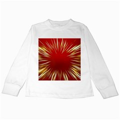 Color Gold Yellow Background Kids Long Sleeve T Shirts