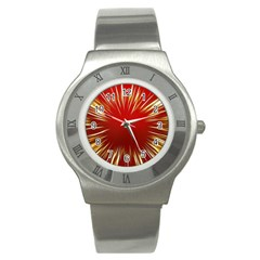 Color Gold Yellow Background Stainless Steel Watch