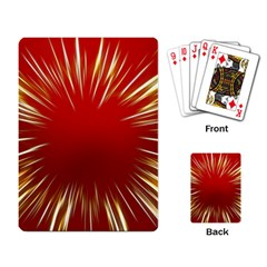 Color Gold Yellow Background Playing Card