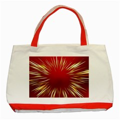 Color Gold Yellow Background Classic Tote Bag (red)